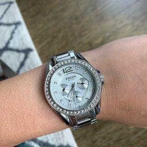 Fossil silver boyfriend watch